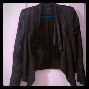 Guess draped Faux leather jacket